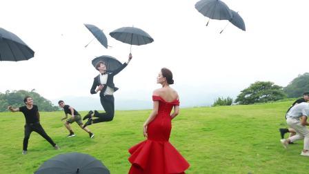 【左岸風尚】紅色晚禮服青島婚紗照,青島婚紗攝影,青島旅拍。