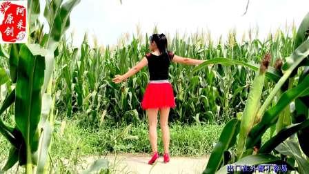 小媳妇在玉米地跳的广场舞 天在下雨我在想你 好听好看