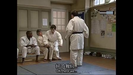 憨豆打跆拳道,开始怕得抬不动腿,没想到一招秒赢教练