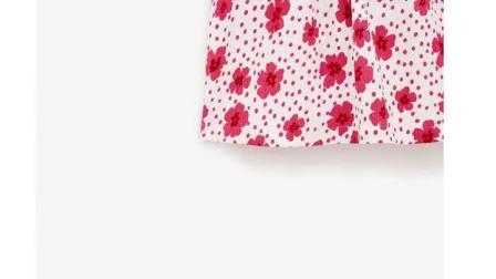 ZARA 夏装新款 童装女童 蝴蝶结饰花朵印花连衣裙 01165638712