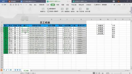 WPS2019新版表格(Excel)实用技巧视频教程