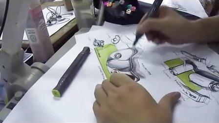 工业设计手绘视频教程—黄山手绘工厂—游戏周边与电筒设计产品手绘