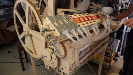 滚石机钢琴打造过程!用了3000个零件