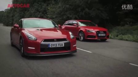 外媒测试 日产 GTR对决奥迪RS6 Avant