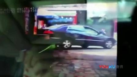 监拍重庆女司机突然倒车撞倒2人 7岁男孩死亡