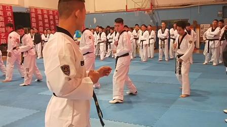 跆拳道竞技教学视频冲刺步+跳换步