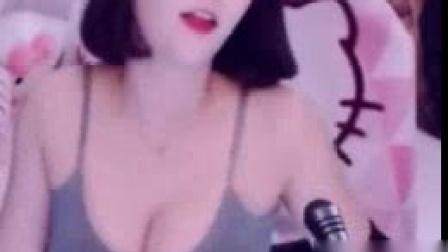 我在韩国人气美女主播斗鱼主播徐润福灰色吊带