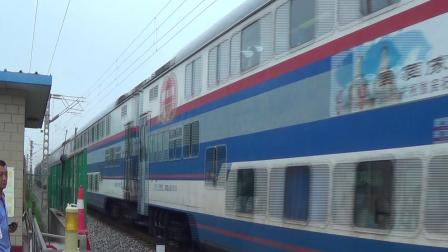2018年7月14日拍火车——DF4DH4205牵引Y513次列车通过顺义铁路道口