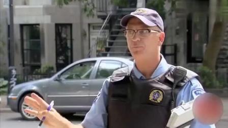 国外爆笑街头恶搞:违章司机用刚买的彩票抵罚