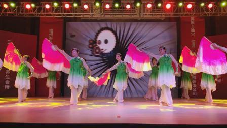 福州高新区南屿尧沙老体协舞蹈队大扇舞《我的祖国》