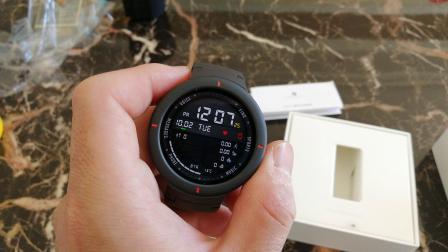 华米amazfit新款智能手表开箱测评