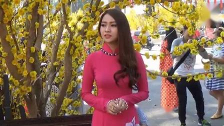 越南旗袍美女街拍_窈窕淑女的感觉