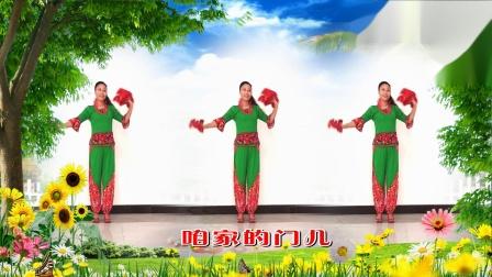 艳霞广场舞 好媳妇儿 三人欢快手绢舞蹈视频