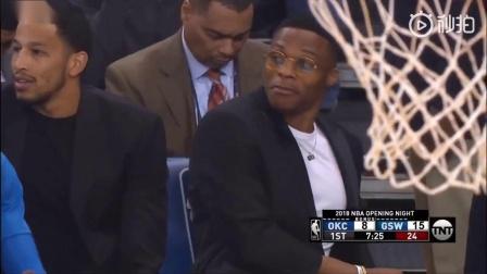 轻松欢乐一刻,NBA新赛季揭幕战场边的搞笑时刻