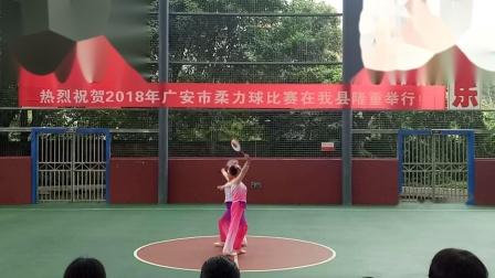 2018年广安市柔力球比赛第一名(江南谣)