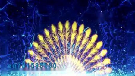 碧波孔雀傣族舞蹈少数民族图腾孔雀舞羽毛竹林配乐成品LED大屏幕背景视频素材