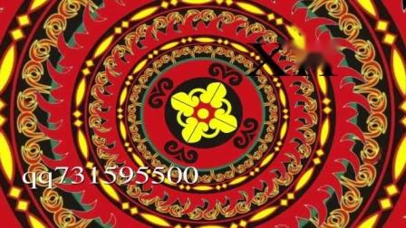 彝族敬酒歌配乐成品少数民族中国风图腾LED大屏幕背景视频素材