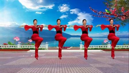 红豆金社广场舞《纳西情歌》编舞;幽谷百合