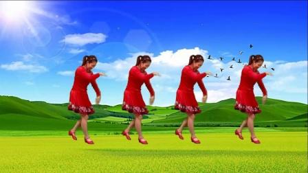 红豆金社广场舞《站在草原往北京》
