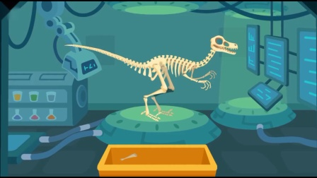 复活斑比盗龙工程车回家 侏罗纪公园恐龙考古