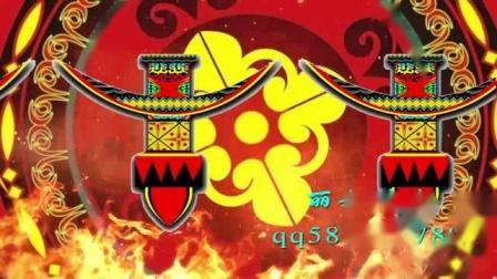 喜庆彝族七月火把节火焰图腾民族风LED大屏幕背景视频素材