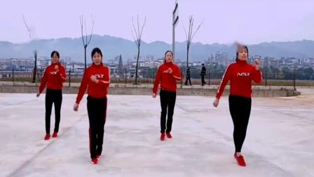 点击观看《32步广场舞 游牧情歌  玫香广场舞》