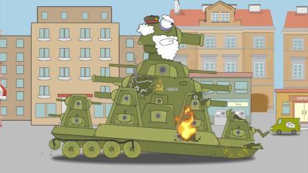 坦克世界搞笑动画:关键时候俯角掉链子,仰角