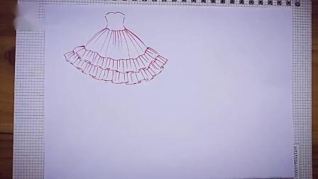 你從未見過的蛋糕裙設計手繪教程!