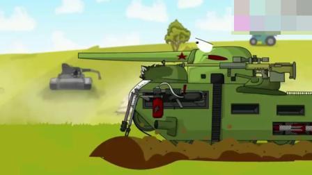 坦克世界搞笑动画:突然变大的T35