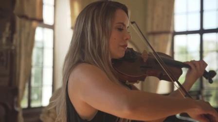 安静的曲子却能让人疯狂!钢琴与小提琴完美结合 美女版·D调卡农