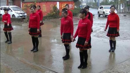 开心快乐姐妹队表演广场舞天籁之爱