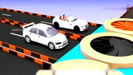 益智早教动画,小汽车从四面八方开过来染色,教宝宝学习色彩!视频
