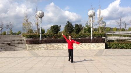 广西廖弟广场舞《争什么争》好看的健身舞个人正背面演示及口令分解