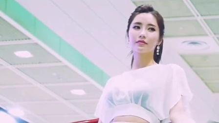 韩国漂亮美女车模,可美可美的马尾小姐姐,青