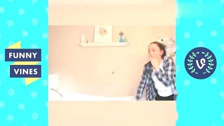 家庭幽默录像:胖妞暴露体重,本想欢快的跑过