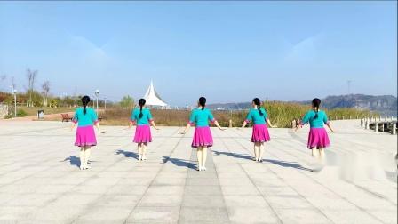 广西廖弟广场舞《哈拉秀》原创健身舞正背面示范含舞蹈分解视频教程