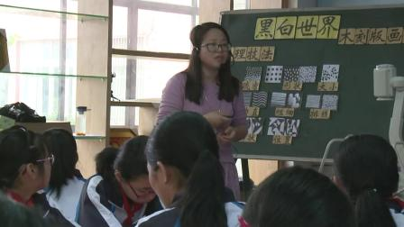 湘教版美术七下第2课《黑白世界》课堂教学视频实录-何雅