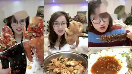 """超级美食评测:吃播小姐姐吃""""小鸡排"""",一口一口吃的太香了"""