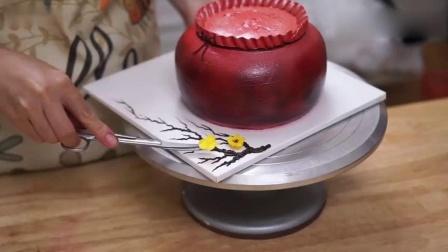 牛人制作的金币蛋糕,看起来好精致,我都都舍