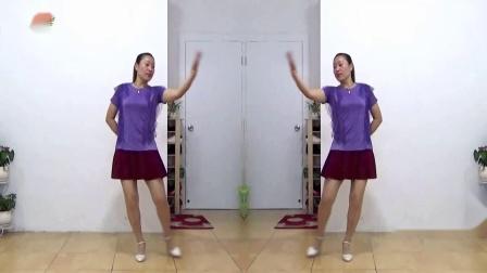 蓝莓思洁广场舞《吻上你的美》歌曲超甜的中老年广场舞视频