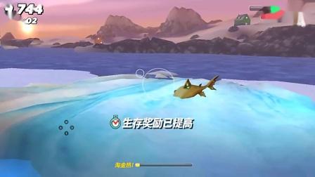饥饿鲨世界:迷你小鲨鱼竟然敢跟鲸鲨对着干?