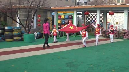 2019年3月11日淄博市文化局幼儿园升国旗仪式 (2)