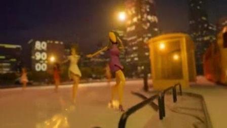 我在余声带领的康乃馨广场舞队截了一段小视频