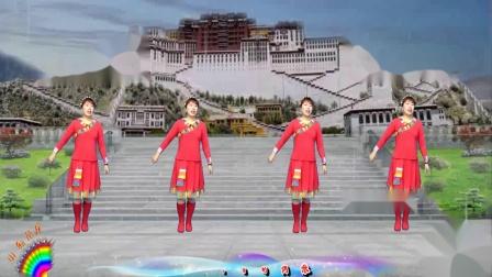 山東花開富貴廣場舞《拉薩夜雨》視頻制作花開富貴