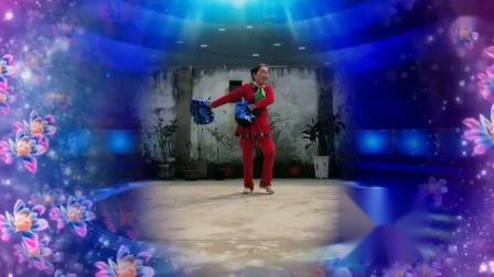 糖豆广场舞((花球舞火火中国风))表演刘华广场舞