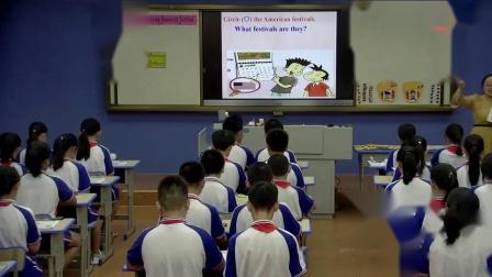 六年级英语《thanksgiving is my favourite》优秀教学视频-校英语课堂评比活动
