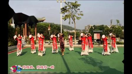 绿叶子广场舞《三月桃花雨》12人版  编舞 :格格老师