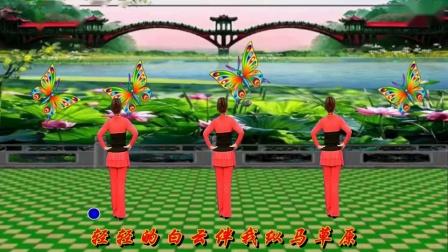 四季如春广场舞《家在草原》演示和分解动作教学 编舞四季如春0