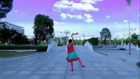 我在世外桃源万年青广场舞-银色的毡房-筷子舞(原创分解 背面演