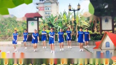福建长乐区长山湖,美丽云彩健身队学习,学习优柔广场舞步健身操